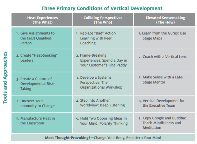 vertical leadership dev - matrix