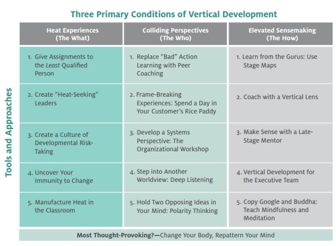 vertical leadership dev - matrix